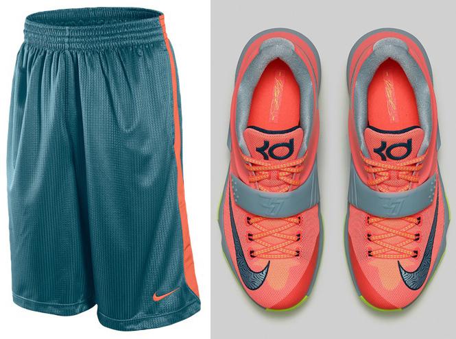 206fa9e3bd40 ... order nike layup basketball shorts to wear with the nike kd 7 35000  degrees sportfits 6d11e