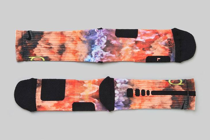 "new concept 98f02 1df05 Nike KD 7 ""35,000 Degrees"" Digital Ink Basketball Socks"