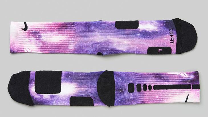 """6c8e769c78d Nike Kobe 9 Elite Low """"Hyper Grape"""" Digital Ink Basketball Socks"""