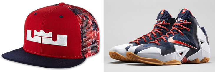 2585852c31b6 Nike LeBron July 4th Independence Day Hat
