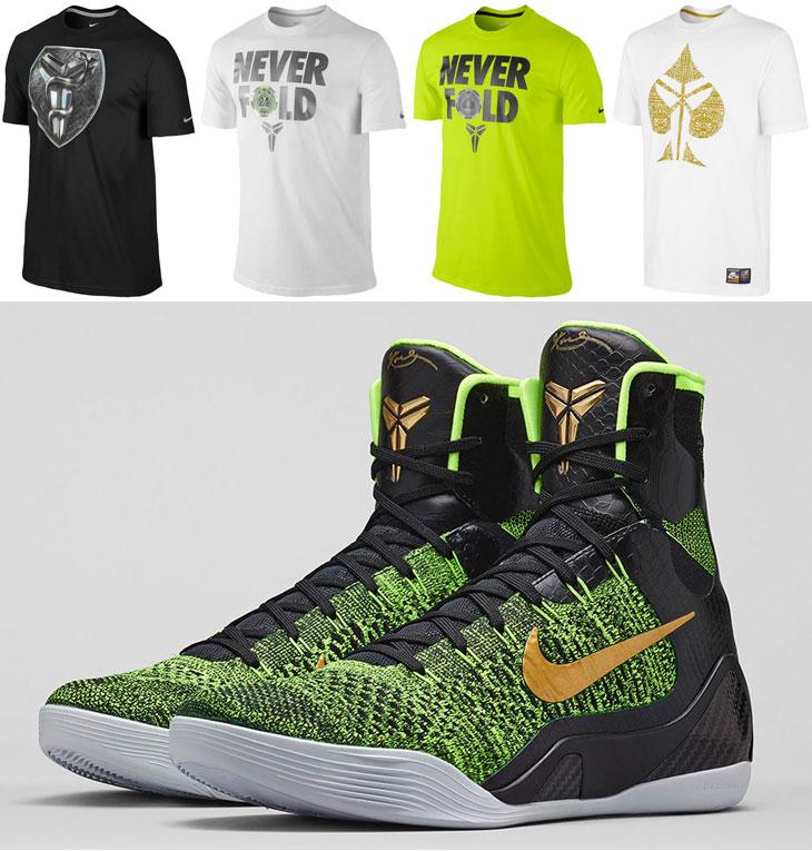 """5e3efa268a2d Nike Kobe Bryant Shirts to Wear with the Nike Kobe 9 Elite """"Restored"""""""