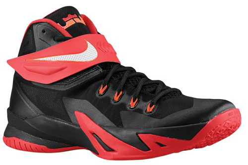 2fefe78029b1 Nike LeBron Zoom Soldier 8 Black University Red Hyper Crimson ...