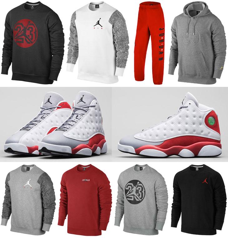 d7353eaf6c2 Air Jordan 13 Grey Toe Clothing | SportFits.com