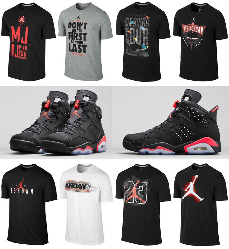 Air Jordan 6 Black Infrared Shirts
