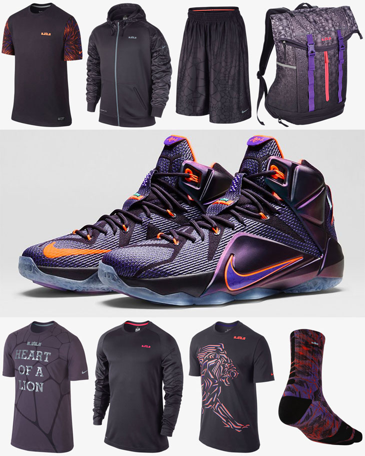 Nike LEBRON 12 Instinct Clothing Apparel Shirts Shorts ...