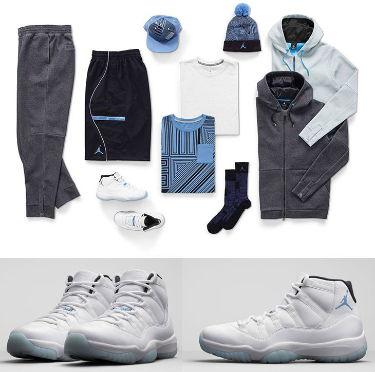 53cca688c64aba Air Jordan 11 Legend Blue Clothing and Apparel