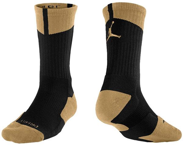Air Jordan Chaussettes Noires Et Or