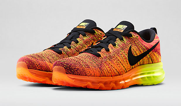 Nike Flyknit Air Max Total Orange Volt Fireberry |