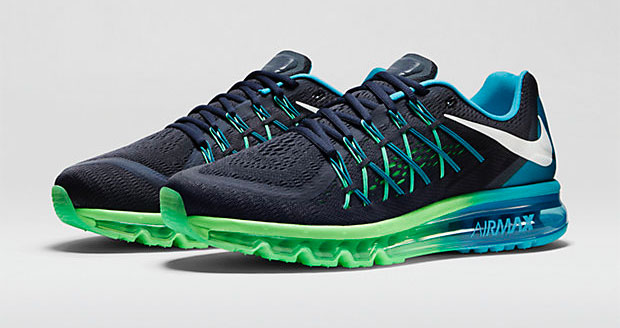 new product b62cf 59d6f ... Blue Lagoon Poison Green White larger image nike-air-max-2015-dark- obsidian-poison-green- ...