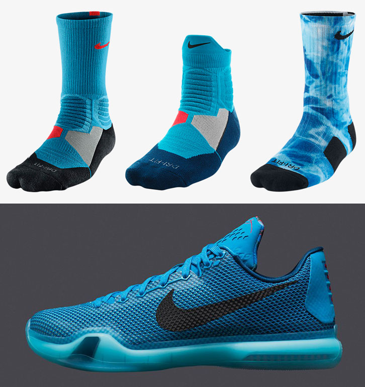 "super popular 839fb 00cf6 Nike Basketball Socks to Sport with the Nike Kobe X ""5AM Flight"""
