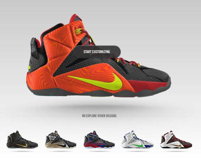 official photos f33e1 6c1f5 Nike LeBron 12 Court Vision Graphic Now Available on NIKEiD ...