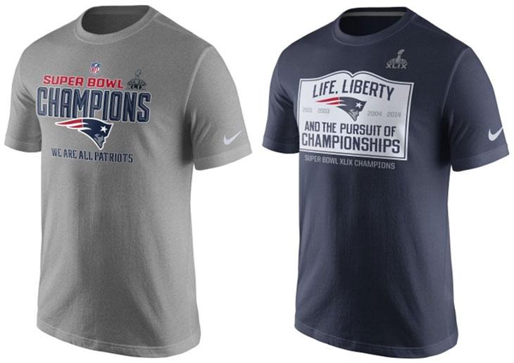 6a563e3562a04 Nike New England Patriots Super Bowl XLIX NFL Champion Shirts ...