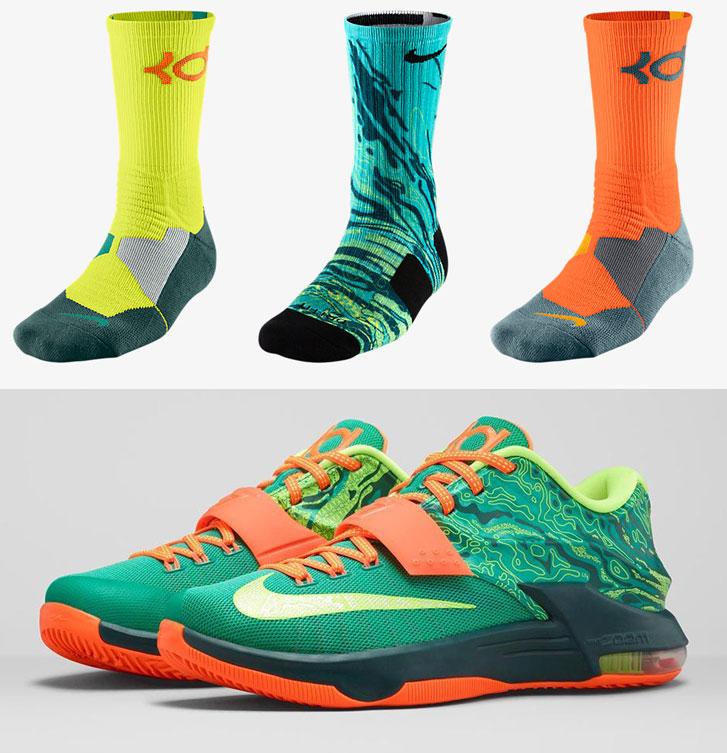 "14f2bcec657 Nike KD Socks to Wear with the Nike KD 7 ""Weatherman"""