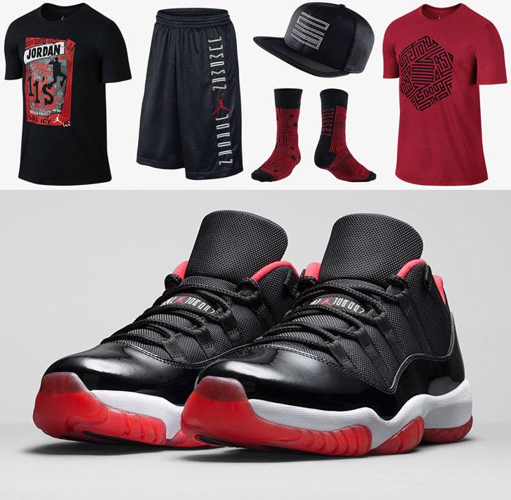 red jordan 11 outfit
