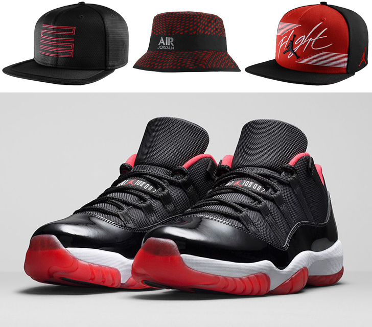 bf13201f571 Jordan Hats to Hook with the Air Jordan 11 Low Bred