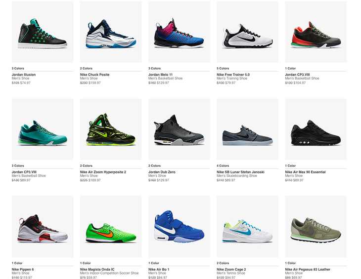 Nike Clearance Sale on Shoes and Clothing  08c1a207c