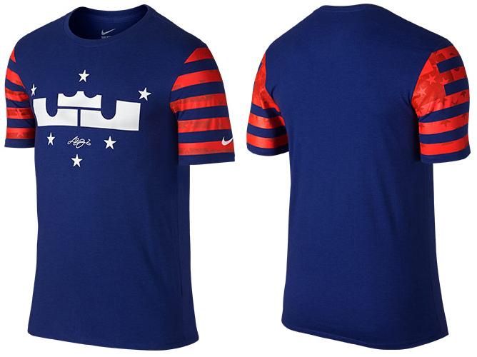 f7b1dcbdccf Nike LeBron 12 4th of July Shirt