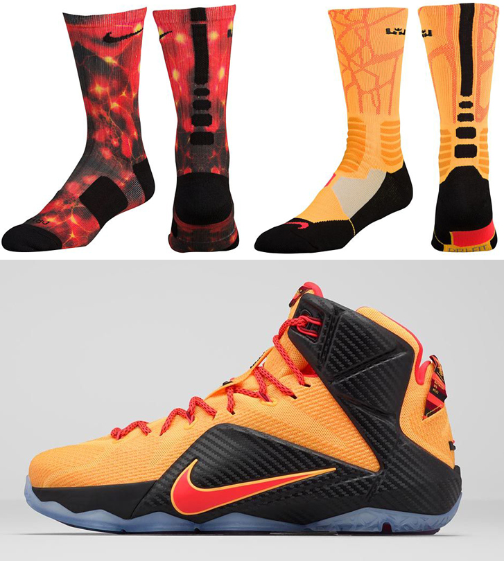 "low priced 6d86f f8368 Nike LeBron Socks to Wear with the Nike LeBron 12 ""Witness"""