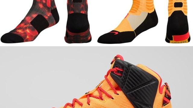 official photos c91e1 2d904 Nike LeBron 12 Witness Socks   SportFits.com