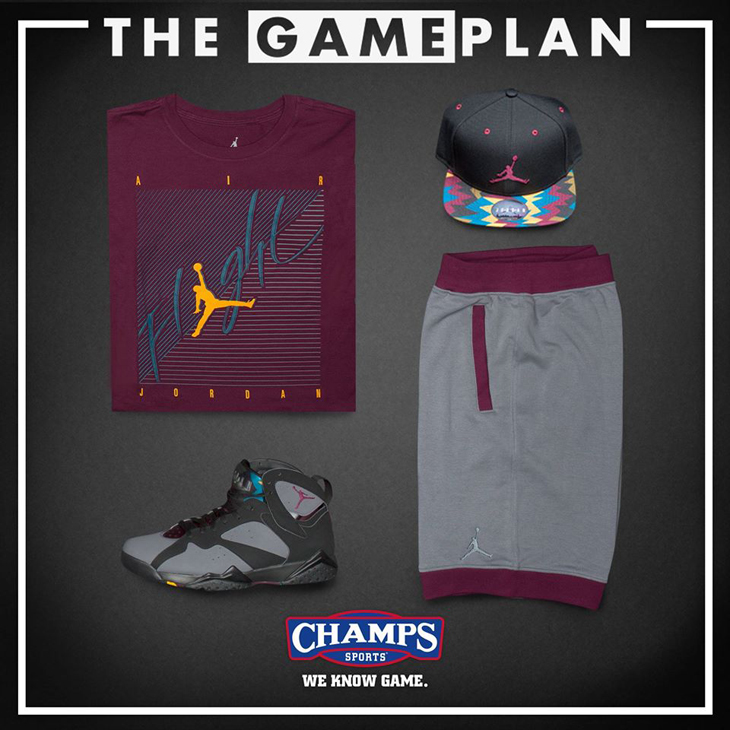 1f4757da7d13 The Game Plan by Champs Sports Presents the Jordan Bordeaux Collection. air- jordan-7-bordeaux-clothing-1. air-jordan-7-bordeaux-clothing-1