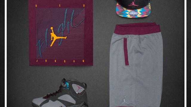 b85e87c28fe1 The Game Plan by Champs Sports Presents the Jordan Bordeaux Collection. air- jordan-7-bordeaux-clothing-1