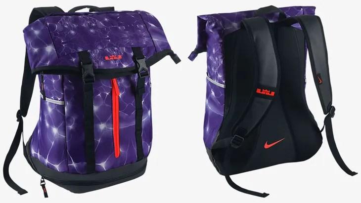 Nike Lebron Ambassador Backpack Court Purple Black Bright