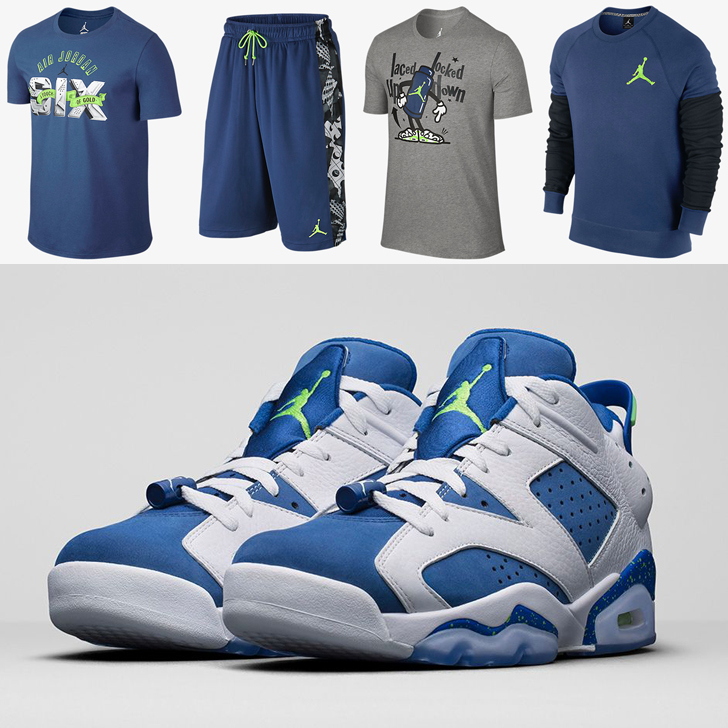 9f2957908d5e Air Jordan 6 Low Ghost Green Seahawks Clothing