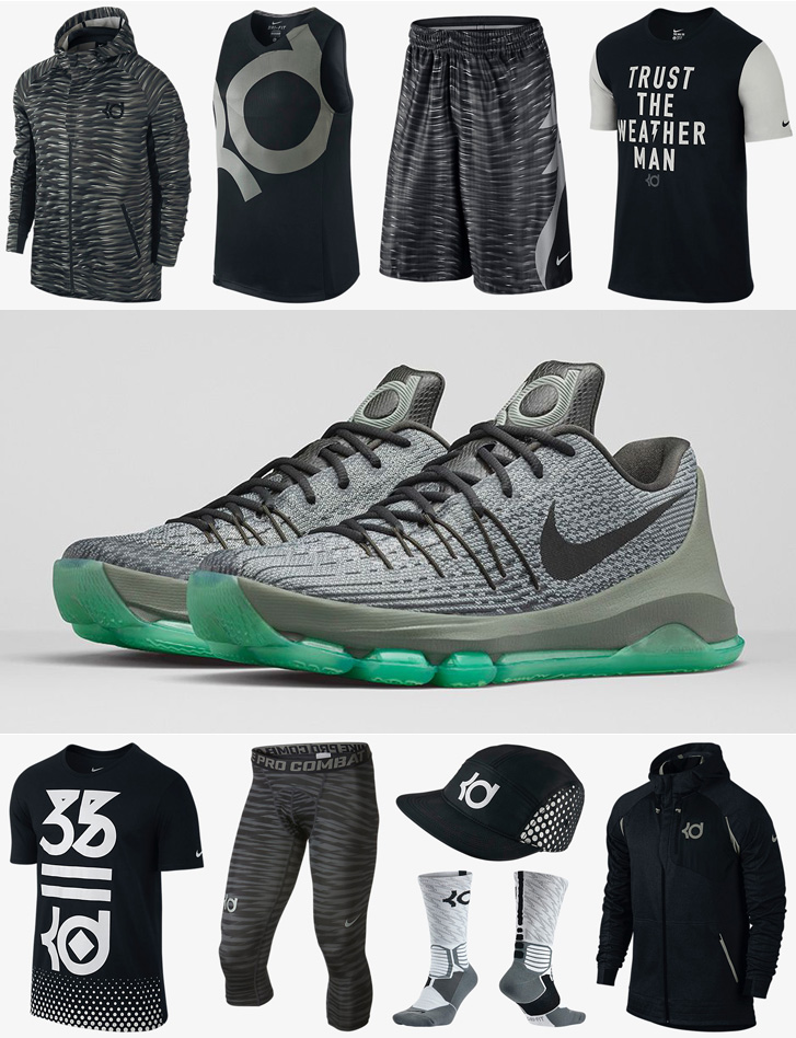 029e94a6d405 Nike KD 8 Hunts Hill Night Shirts Socks Shorts and Hats