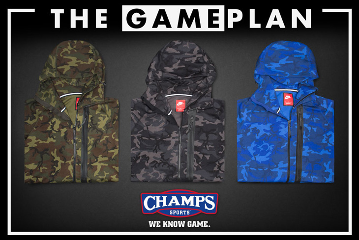 dfe52a5a1bbb The Game Plan By Champs Sports Presents the Nike Tech Fleece Camo ...
