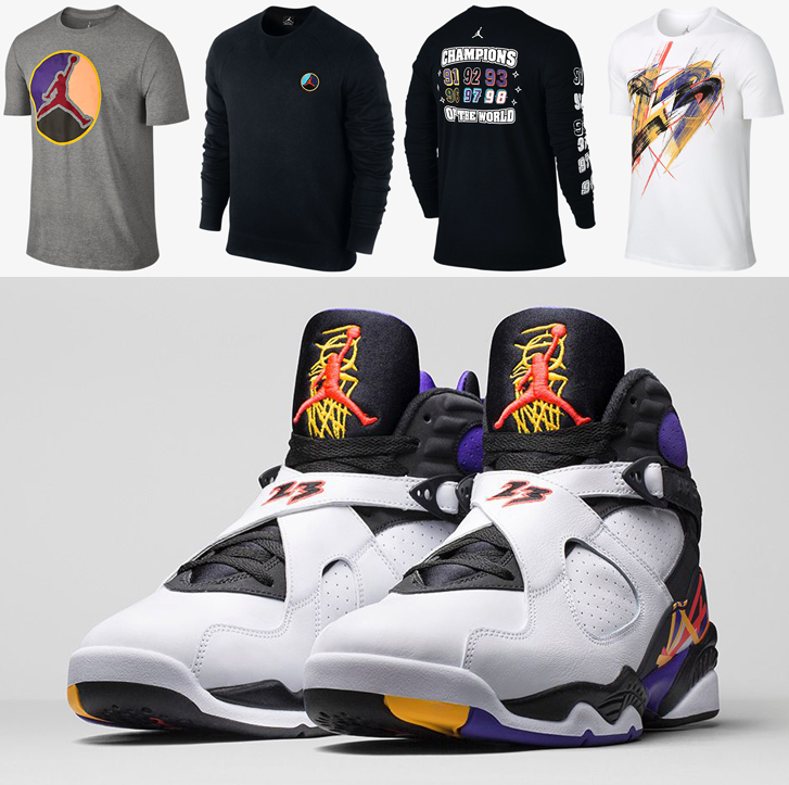 "quality design f09b6 72768 Air Jordan 8 ""Three Peat"" Collection"