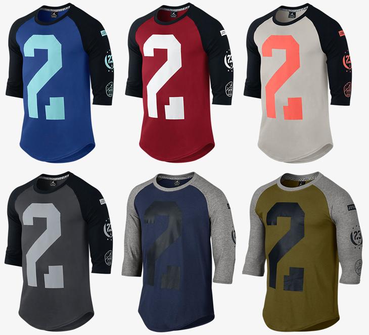 2cdc8f620f6f55 Jordan Raglan Shirt – Holiday 2015 Colors