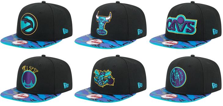 Air Jordan 8 Aqua New Era NBA Hook Hats  8b974dfa18b