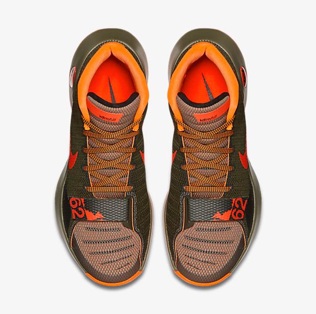 33e20225ba00 Nike KD Trey 5 III Medium Olive Cargo Khaki Total Orange