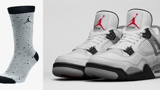 721f460fccd air-jordan-4-white-cement-socks