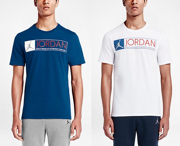 Air Jordan 12 De T-shirt Bleu Français