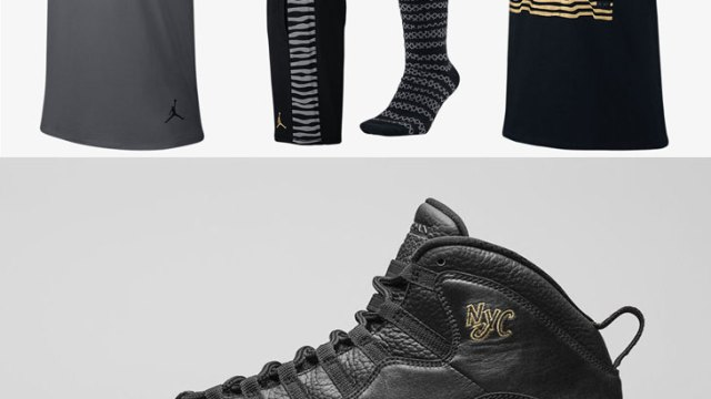 Air Jordan 10 NYC Clothing | SportFits.com