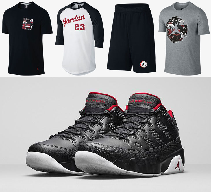 "new styles 12e0e a3d64 Air Jordan 9 Low ""Bred"" Collection"