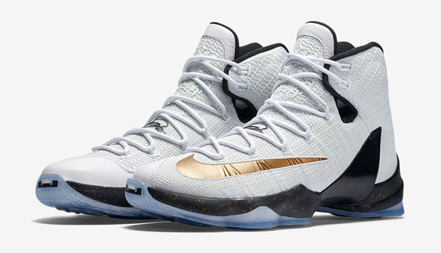 e9207865e09 Nike LeBron 13 Elite Gold shirt and shoes