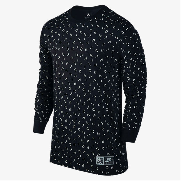 36c705f82303bd air-jordan-5-long-sleeve-shirt-black-silver