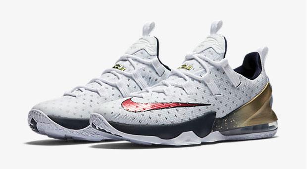 2a97e13a4992 Nike LeBron 13 Low USA Olympics