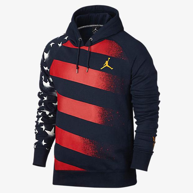 Air Jordan 7 Olympic Alternate Hoodie Blue Red Gold  fcf5ba876878