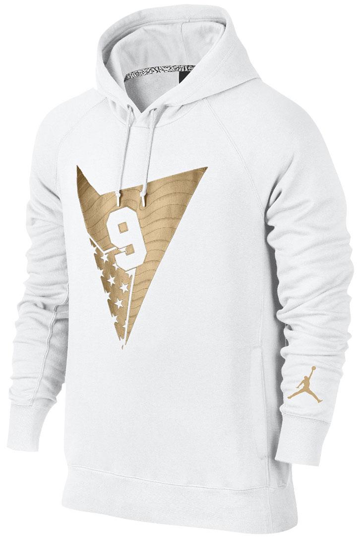 Air Jordan 7 Olympic Alternate Hoodie White Gold  23436926ae22