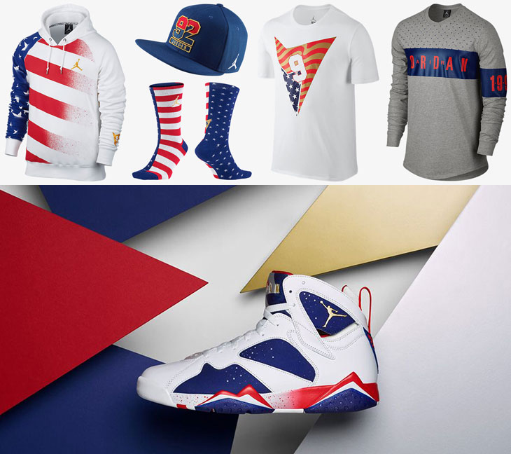 58d9f3495e5f Air Jordan 7 Olympic Tinker Alternate Clothing