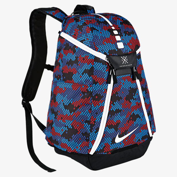 Nike Hoops Elite Max Air Team 2 Graphic Backpack Blue Red Black ... 04cb0d603