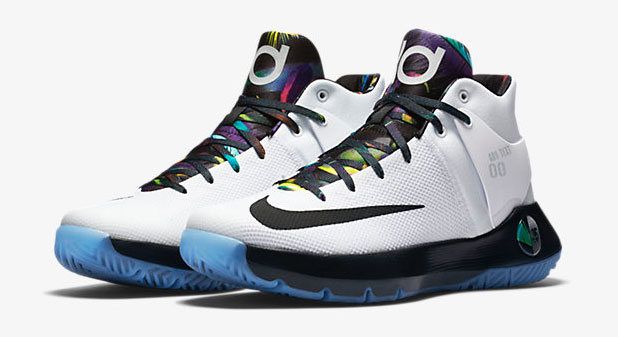 "classic fit 8e920 f2b09 Nike KD Trey 5 IV ""White Black Multi-Color"""
