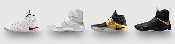918d32dae5e19 Customize the Nike LeBron Soldier 10 and Kyrie 2 in Game 6 and 7 ...