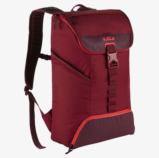 3829b7ccd164 Nike LeBron Ambassador Max Air Backpack Red Maroon