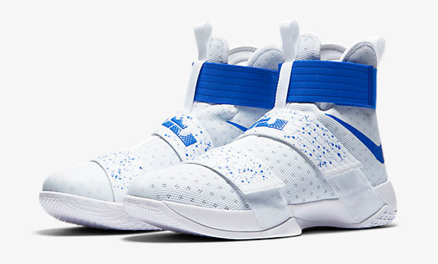 new product 839f4 fe1dc Nike LeBron Soldier 10 White Hyper Cobalt | SportFits.com