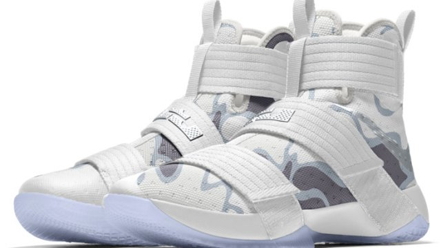 "52739e1a0e973 Nike LeBron Soldier 10 ""White Camo"". Releasing in honor of Veteran's Day ..."