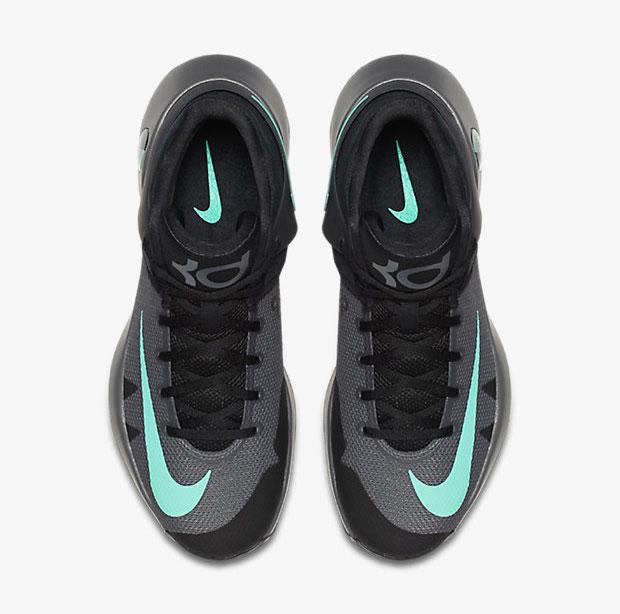 437bce1a83ec Nike KD Trey 5 IV Black Grey Green Glow